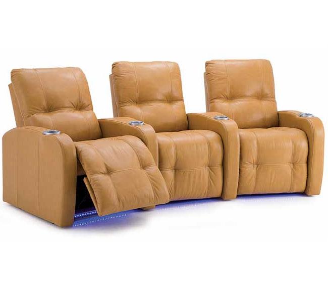 light brown palliser auxillary theater seating