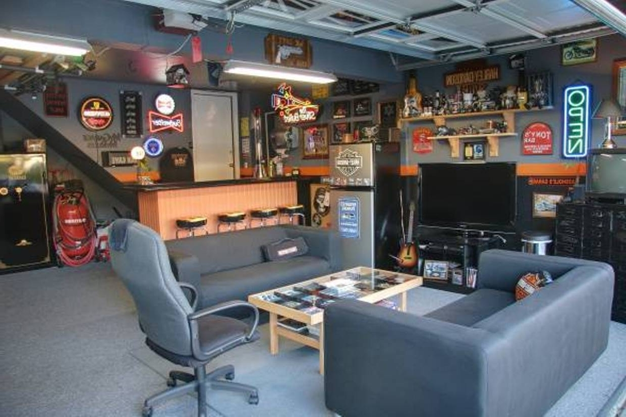 Splendid Cool Garage Designs With Man Cave Ideas For Home Model Seatup Llc