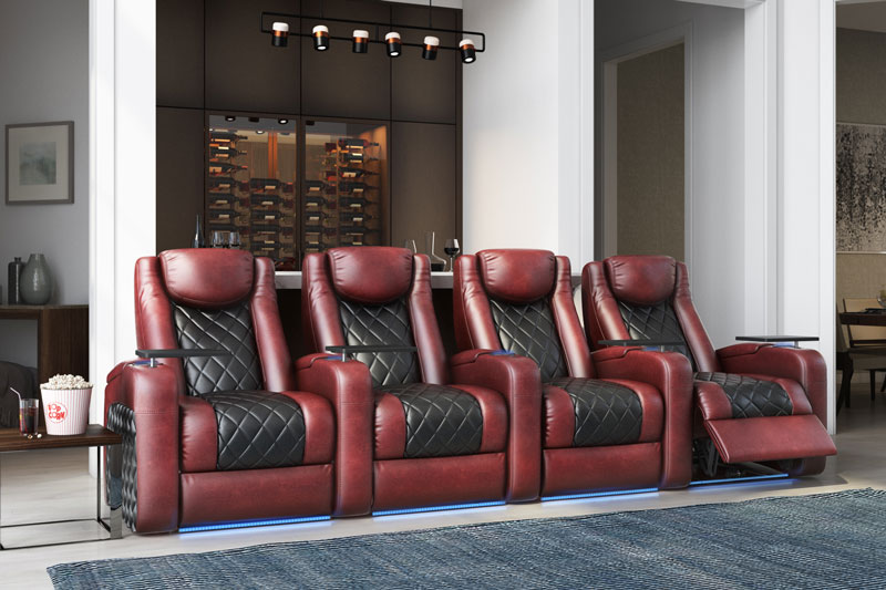 15 Mind Ing Home Theater Designs To, Home Theater Couch Living Room Furniture