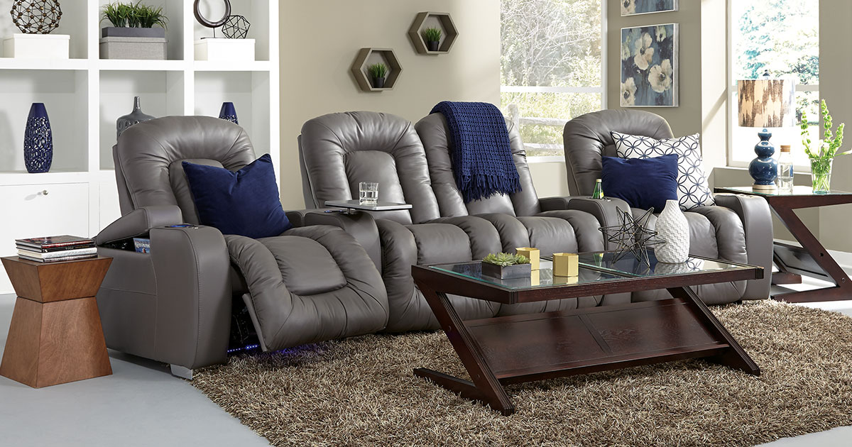 Comfy Leather Home Theater Seating Leather Theater Recliners For Homes Seatup Com