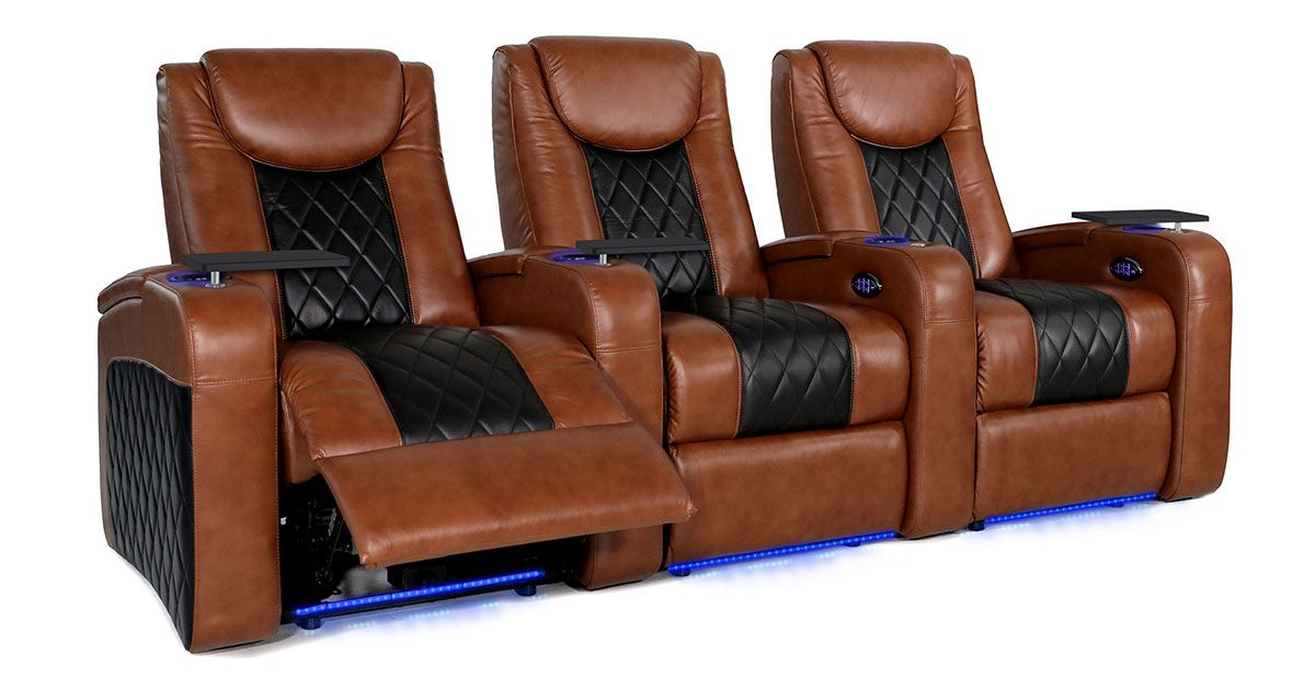 Octane Azure Lhr Black And Cognac Seating With Power Lumbar Headrest Seatup Com