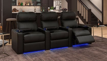 Comfy Leather Home Theater Seating